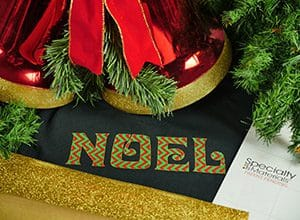 Noel, Christmas cut file, Thermoflex SSP, Glitterflex Ultra