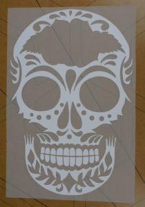 LuminousFlex, heat transfer vinyl, DIY, sugar skull