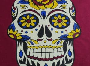 sugar skull pdf cut file, black thermoflex plus, athletic yellow thermoflex plus, royal blue thermoflex plus, lumionusflex