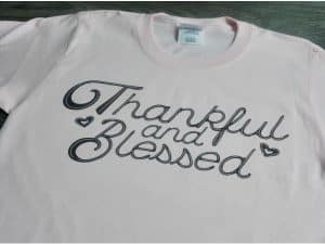 thankful and blessed SVG cut file, black thermoflex plus, thanksgiving